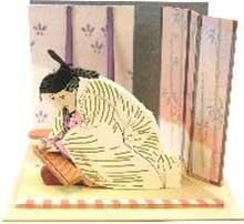 NONスケール みにちゅあーとキット スタジオジブリminiシリーズ 御門とかぐや姫(かぐや姫の物語)【MP07-109】 さんけい画像