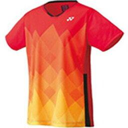 YO-20622-496-XO ヨネックス レディース ゲームシャツ(レギュラー)(サンセットレッド・サイズ:XO) YONEX