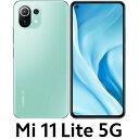 MI11LITE5G-GN Xiaomi(シャオミ) Mi 11 Lite 5G(SIMフリー版)- ミントグリーン 6.5インチ/ RAM 6GB/ ROM 128GB/ おサイフケータイ/ 指紋認証/ 顔認証/ 防滴防塵※日本国内向けモデル・・・