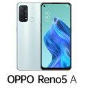 CPH2199IB (RENO5A) OPPO Reno5 A(SIMフリー版)-アイスブルー 6.5インチ/ RAM 6GB/ ROM 128GB/ 5G対応/ 4眼カメラ/ 防水防塵/ おサイフケータイ/ 指紋認証・顔認証・・・