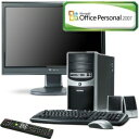 ◇モニタセット◇eMachines デスクトップパソコン J4468 (Office2007)+Gateway FPD1975WJ【税込】