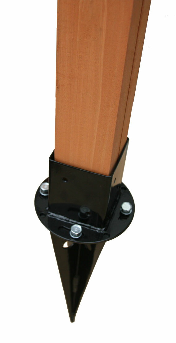 土中用ポール固定金具セット(60mm用)