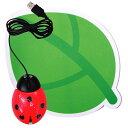 かわいいユニークなデザインが大人気!デザインPCマウス&パッド セット てんとう虫|マウス...