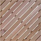 レッドシダー ウッドタイル 450斜 / ウッドタイル 材料 人工木ウッドデッキ 樹脂ウッドデッキ 樹脂デッキ ウッドパネル