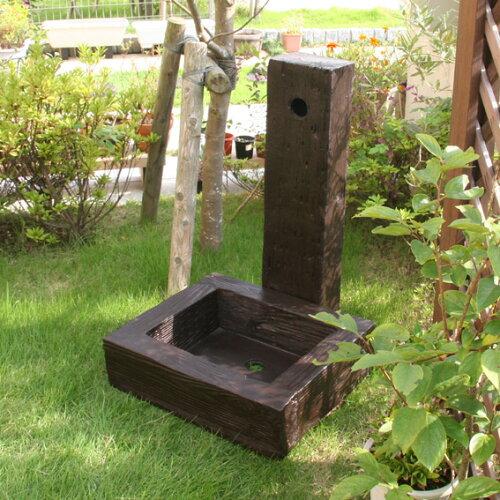 FRP 水栓ユニットセット 枕木調 (57085-57115) / 立水栓 水栓柱 立水栓セット FRP 軽量 樹脂 水洗...
