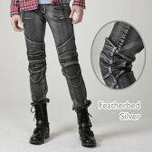 アグリーブロス フェザーベッドシルバー uglyBROS MOTO PANTS Featherbed-Silver アグリブロス バイクパンツ ライディングジーンズ バイク用デニム ジーンズ