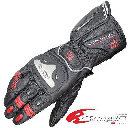 コミネ GK-169 チタニウムレーシンググローブ-ユリウス KOMINE 06-169 Titanium Racing Gloves-JUL...