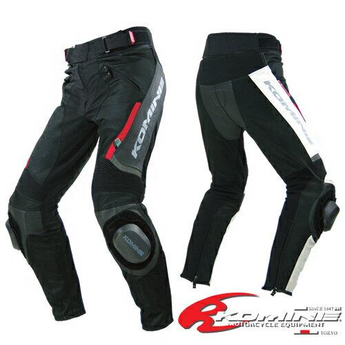 コミネ PK-717 スポーツライディングレザーメッシュパンツ KOMINE 07-717 Sports Riding Leather M...