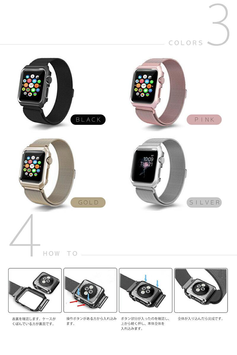apple watch バンド ステンレス 42mm 38mm Series 1 2 3 対応 アップルウォッチ ベルト ブランド スポーツ