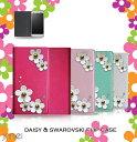 Galaxy A20 ケース SC-02M SCV46 デイジー スワロフスキー ギャラクシー a20 カバー 手帳型 ス……