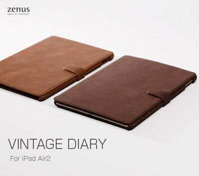 【iPad Air 2 ケース】ZENUS Vintage Diary ゼヌス ビンテージダイアリー【アイパッド エアー/タブレット/カバー/スマホケース/スマホ/スマホカバー/スマートフォン/softbank/ソフトバンク/au/レザー/手帳型】【02P11Mar16】