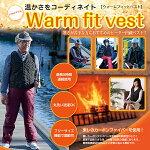 ウォームフィットべストWarmfitvest寒さが苦手な方におすすめのヒーター内蔵ベストフリーサイズ男女兼用