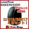 サマータイヤ 4本セット [ 215/55R17 グッドイヤー RV-S ECO ] ( 17インチ 夏タイヤ アウトレット ジェームス 215/55-17 )【中古】(未使用品)
