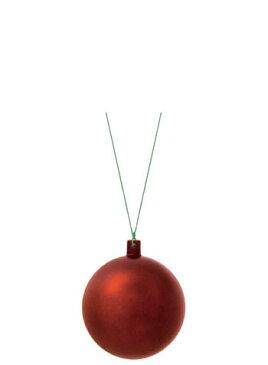 【クリスマス・装飾・カラフルボール】80mmフロストユニボール・フロストチョコレート6ケ入り