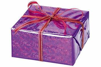 【クリスマス・装飾・オーナメント・デコレーション】ハーフギフトボックス(M)ラベンダー