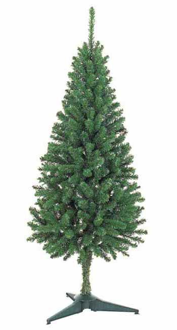 【クリスマス・ヌードツリー・装飾】150cmスリムツリー(枝が幹に巻きつけられており、手で直接広げるタイプ)