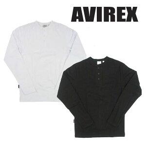 AVIREX アヴィレックス 長袖Tシャツ デイリー ヘンリーネック 6153482/618875