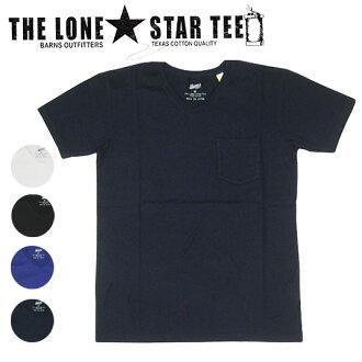 燒傷穀倉 Lonestar TEE V 脖子口袋 T 男式襯衫孤獨星 v 領 t 恤 1022年 / 上衣 / 短袖 / 短袖 T 恤 / 胸部口袋 / 平原 / 日本