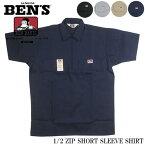 ベンデイビス 米国製 プルオーバー 半袖ハーフジップシャツ BDUS-7100