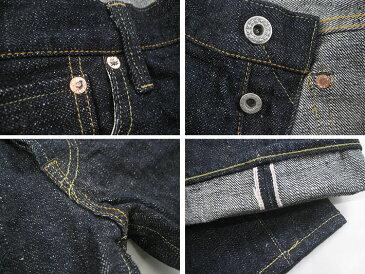 鬼デニム ONI DENIM 和紙糸刺繍 585XX 16.5oz セミタイトストレート