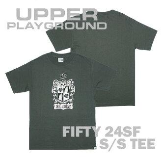 上部打地面上操場 FIFTY24SF 短袖印 T 灰色