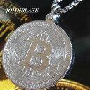 シルバー925製 暗号通貨 仮想通貨 ビットコイン イメージモチーフ メダル型 Bitcoin Cr