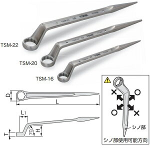 【送料無料】TONE/前田金属工業チタンシノ付めがねレンチトルシアボルト用TSM-22