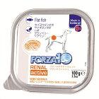 フォルツァ10/FORZA10アクティウェットリナール(腎臓ケア)フラットフィッシュ缶ドッグウェットフード100g