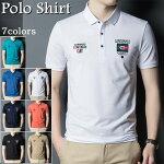 ポロシャツ 半袖 ポロシャツ メンズ コットン トップス ビジネス カジュアルポロシャツ 刺繍 Polo shirt ジャージポロシャツ 上着 シンプル ゴルフウェア 夏物 父の日 プレゼント