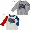 【セール】ミキハウス ダブルB(DOUBLE.B) 旅するBくん刺繍の長袖Tシャツ(100、110)