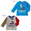 ミキハウス ダブルB(DOUBLE.B) リメイク風刺繍の長袖Tシャツ(100、110)