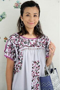 刺繍ワンピース ロングワンピース レディース 刺繍  ドレス 結婚式 メキシコ刺繍 サンアントニーノ フォークロア カラフルギフト ラッピング対応可 送料無料