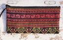 ポーチ 刺繍 モン族 刺繍ポーチ ハンドメイド 一点物ギフト ラッピン...