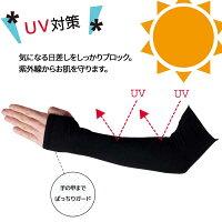 【送料無料】涼感UVカットアームカバー紫外線対策99%カット!日焼け止め紫外線ダメージからお肌をガード!定番ブラックの涼感タイプアームカバーです。