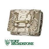 【toff】TOFF&LOADSTONE【財布】トフアンドロードストーン パイソン 3つ折り財布 ゴールド