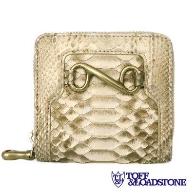 個性的で美しい模様が魅力の蛇革(パイソン)財布 TOFF&LOADSTONE 二つ折りジップウォレット