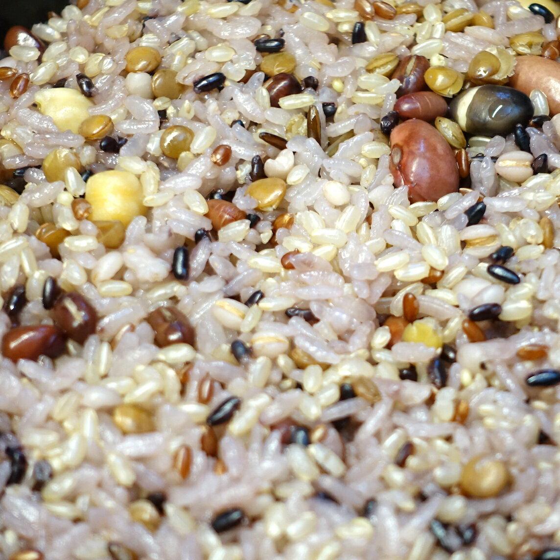 縄文米 1.5Kg (豆入り) 高級雑穀米【有機栽培・放射能検査済み・特別栽培】お徳用サイズ
