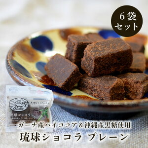 琉球ショコラ 50g×6袋 沖縄県産黒糖とガーナ産ハイカカオのチョコレート 送料無料