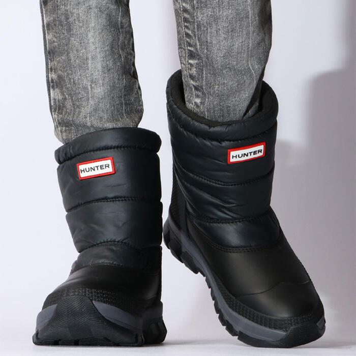 【お買物マラソン×当店P5倍】 HUNTER W ORIGINAL INSULATED SNOW BOOT SHORT(オリジナル インシュレーテッドスノーショートブーツ) womens ハンター レディース レインブーツ 長靴 レインシューズ オシャレ 黒 SS10画像