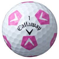 キャロウェイ2018クロムソフトXTRUVIS(トゥルービス)シェブボール(ホワイト×ピンク)