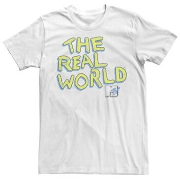 LICENSED CHARACTER キャラクター レアル スリーブ Tシャツ 白 ホワイト 【 SLEEVE WHITE LICENSED CHARACTER MTV THE REAL WORLD POP COLOR SHORT TEE 】 メンズファッション トップス Tシャツ カットソー