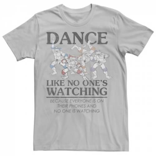 トップス, Tシャツ・カットソー LICENSED CHARACTER T SLEEVE SILVER LICENSED CHARACTER NINJA TURTLES DANCE LIKE NO ONE IS WATCHING SHORT TEE T