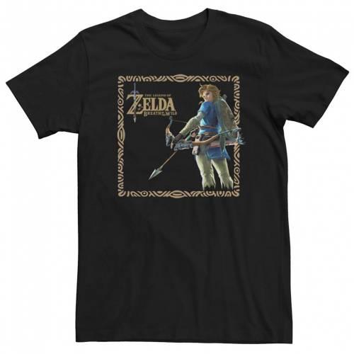 トップス, Tシャツ・カットソー  T LEGEND LICENSED CHARACTER YOUNG NINTENDO OF ZELDA BREATH THE WILD LINK SQUARE POSTER TEE BLACK