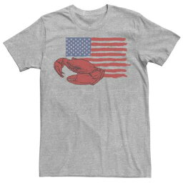 LICENSED CHARACTER キャラクター Tシャツ ヘザー メンズ 【 HEATHER LICENSED CHARACTER LOBSTER AMERICAN FLAG TEE ATHLETIC 】