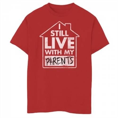 トップス, Tシャツ・カットソー UNBRANDED T RED UNBRANDED STILL LIVE WITH MY PARENTS GRAPHIC TEE T