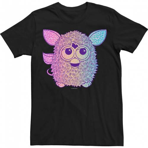 トップス, Tシャツ・カットソー LICENSED CHARACTER T LICENSED CHARACTER MENS FURBY GRADIENT PORTRAIT TEE BLACK T