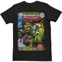 LICENSED CHARACTER キャラクター スペシャル Tシャツ 黒色 ブラック 【大きめ】 メンズ 【 SPECIAL LICENSED CHARACTER MARVEL THE AMAZING SPIDERMAN KINGSIZE COMIC COVER TEE BLACK 】