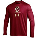 UNBRANDED ボストン カレッジ イーグルス サイドライン スリーブ Tシャツ 赤 レッド 【 SLEEVE RED UNBRANDED UNDER ARMOUR MAROON BOSTON COLLEGE EAGLES SIDELINE STACK LONG TSHIRT BOS 】 メンズファッション トップ