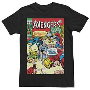 MARVEL Tシャツ 黒色 ブラック 【 MARVEL THE AVENGERS VALKYRIE AND HER LADY LIBERATORS COVER TEE BLACK 】 メンズファッション トップス Tシャツ カットソー