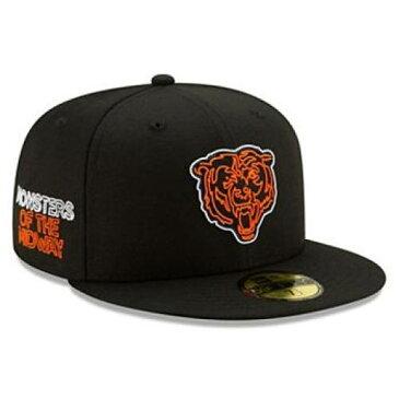 ニューエラ NEW ERA 黒 ブラック シカゴ ゴールデンベアーズ カルベアーズ 【 BLACK NFL NEW ERA CHICAGO BEARS 2020 DRAFT OFFICIAL DRAFTEE 59FIFTY FITTED HAT BRS 】 バッグ キャップ 帽子 メンズキャップ 帽子